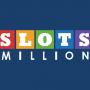 slots million casino rainbow logo blue background